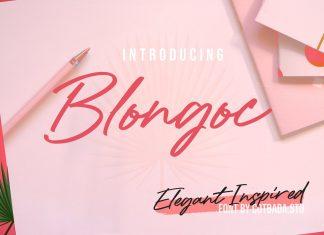 Blongoc Script Font