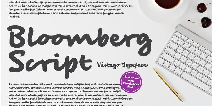 Bloomberg Script Font