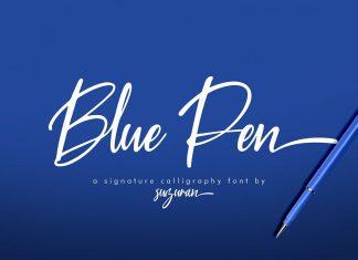 Blue Pen 3 FontsScript Font
