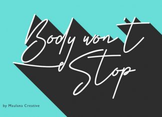 Body Won't Stop - Signature Font
