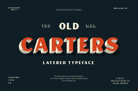 Carters Layered Font