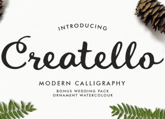 Creatello Script Font
