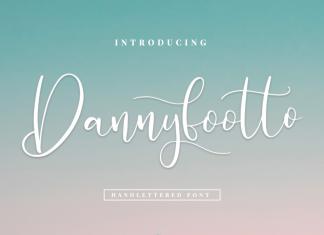 Dannyfootto///handlettered font Script Font