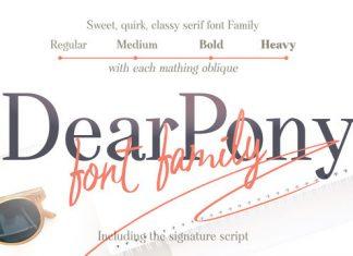 Dear Pony Font Family