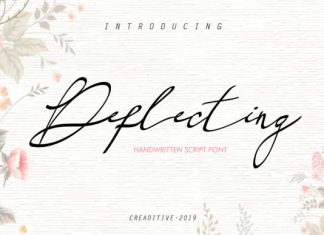 Deflecting Font