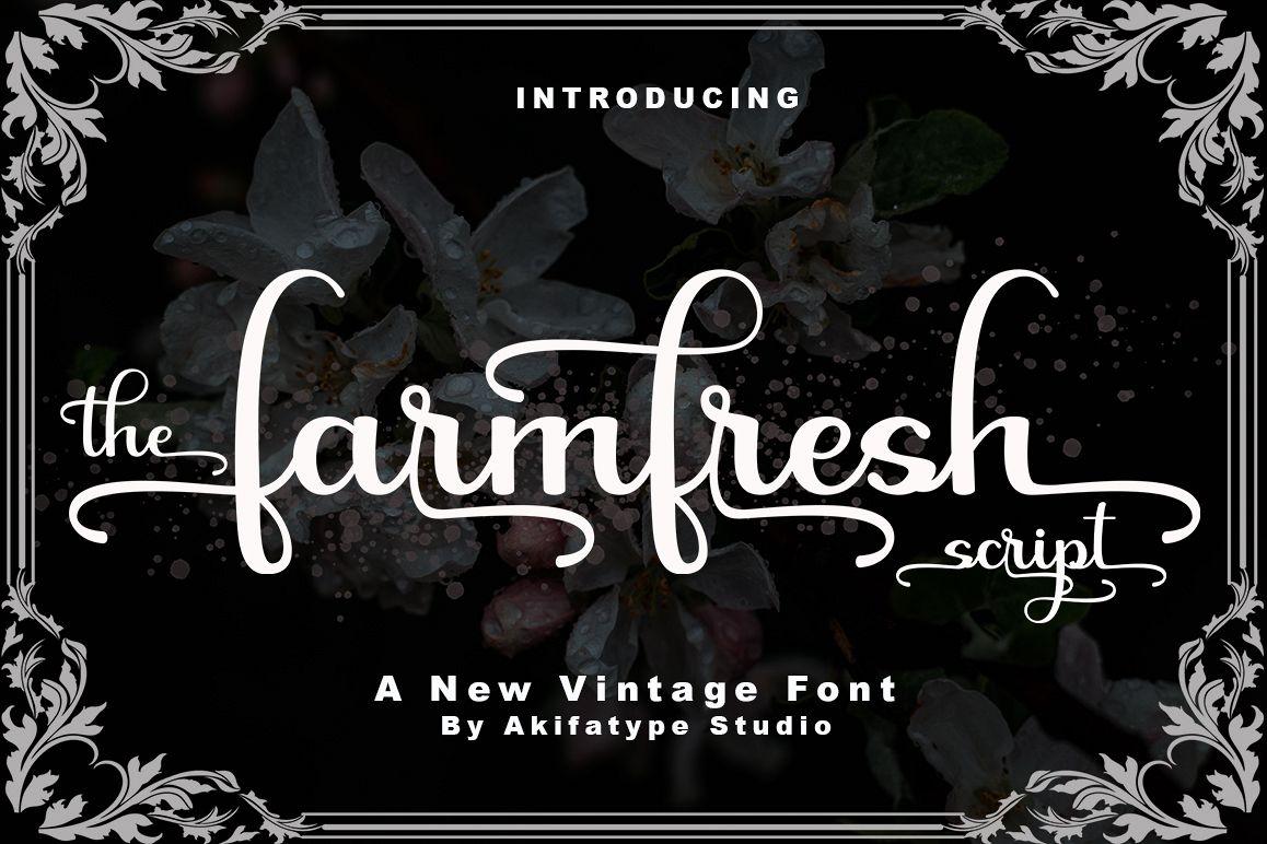 farmfresh script Script Font