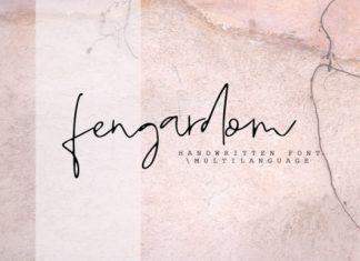 Fengardom font