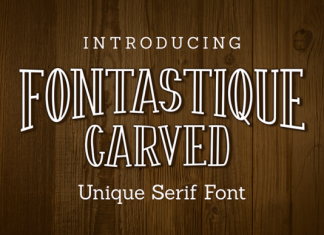 Fontastique Carved Font