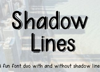 Fontbundles - Shadow Lines Font