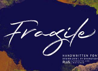 Fragile Script Font