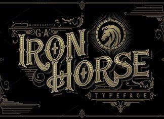 G.A Iron Horse Font