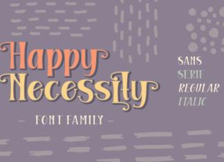 Happy Necessity Family Font
