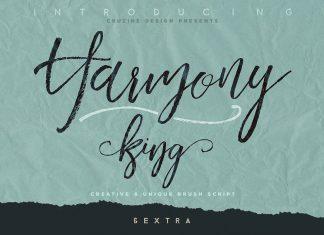 Harmony King - Brush Font