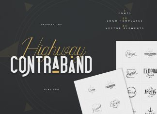 Highway Contraband - font