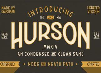 HURSON CLEAN Regular Font