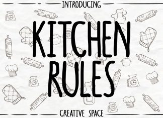 Kitchen RulesRegular Font