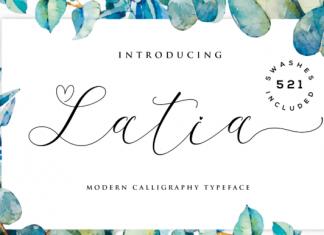 Latia Script Font