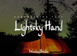 Lightsky Hand Font