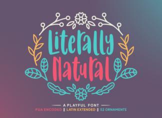 Literally Natural Font