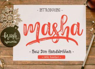 Masha // Duo Handlette Font