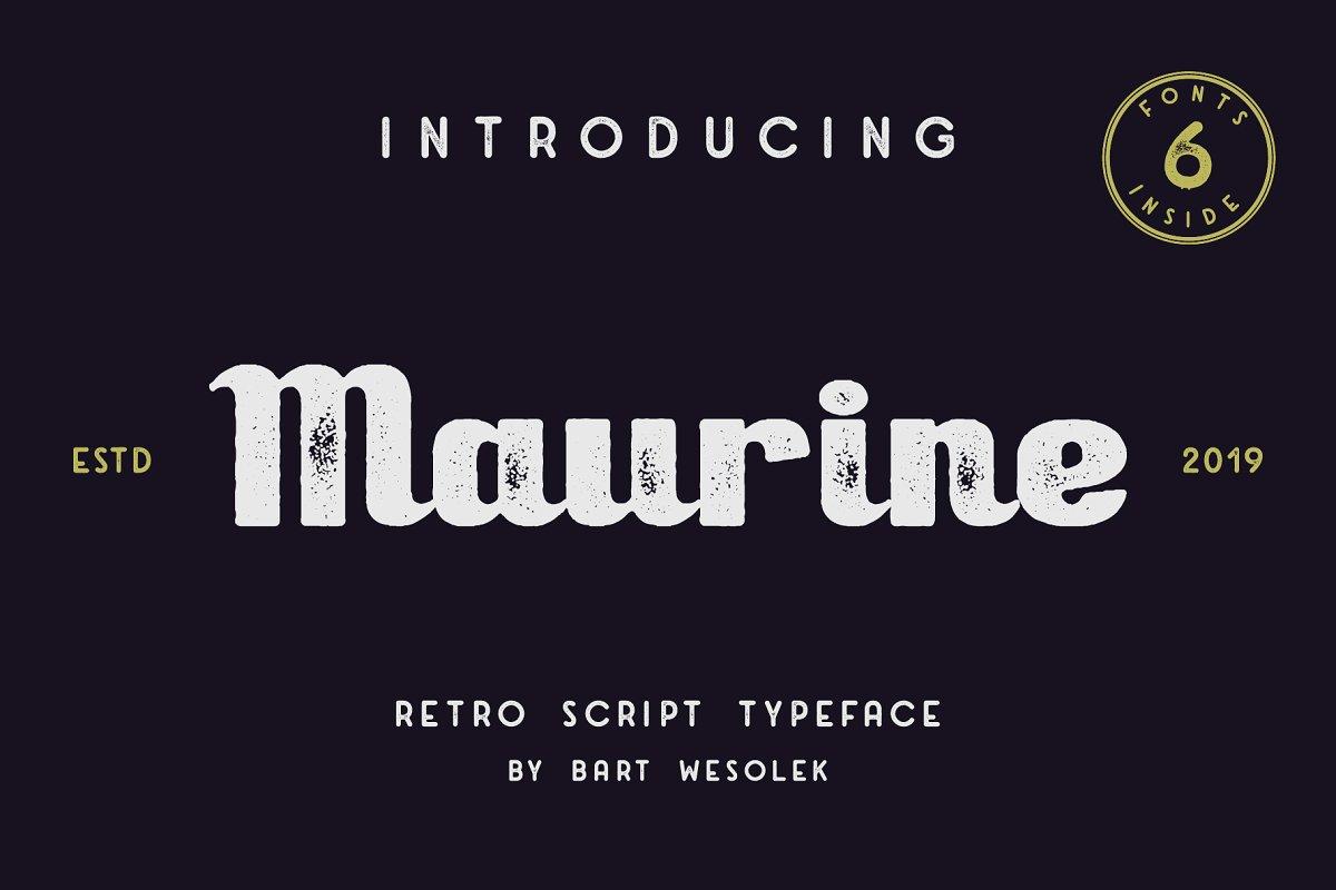Maurine - a retro script font