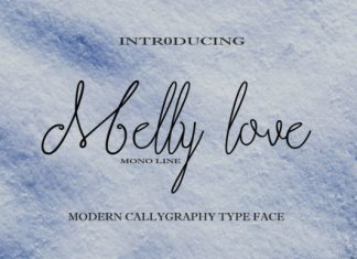 Melly Love Font