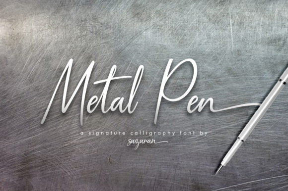 Metal Pen Script Font