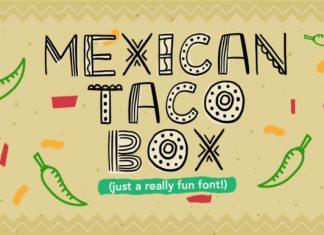 Mexican Taco Box Font