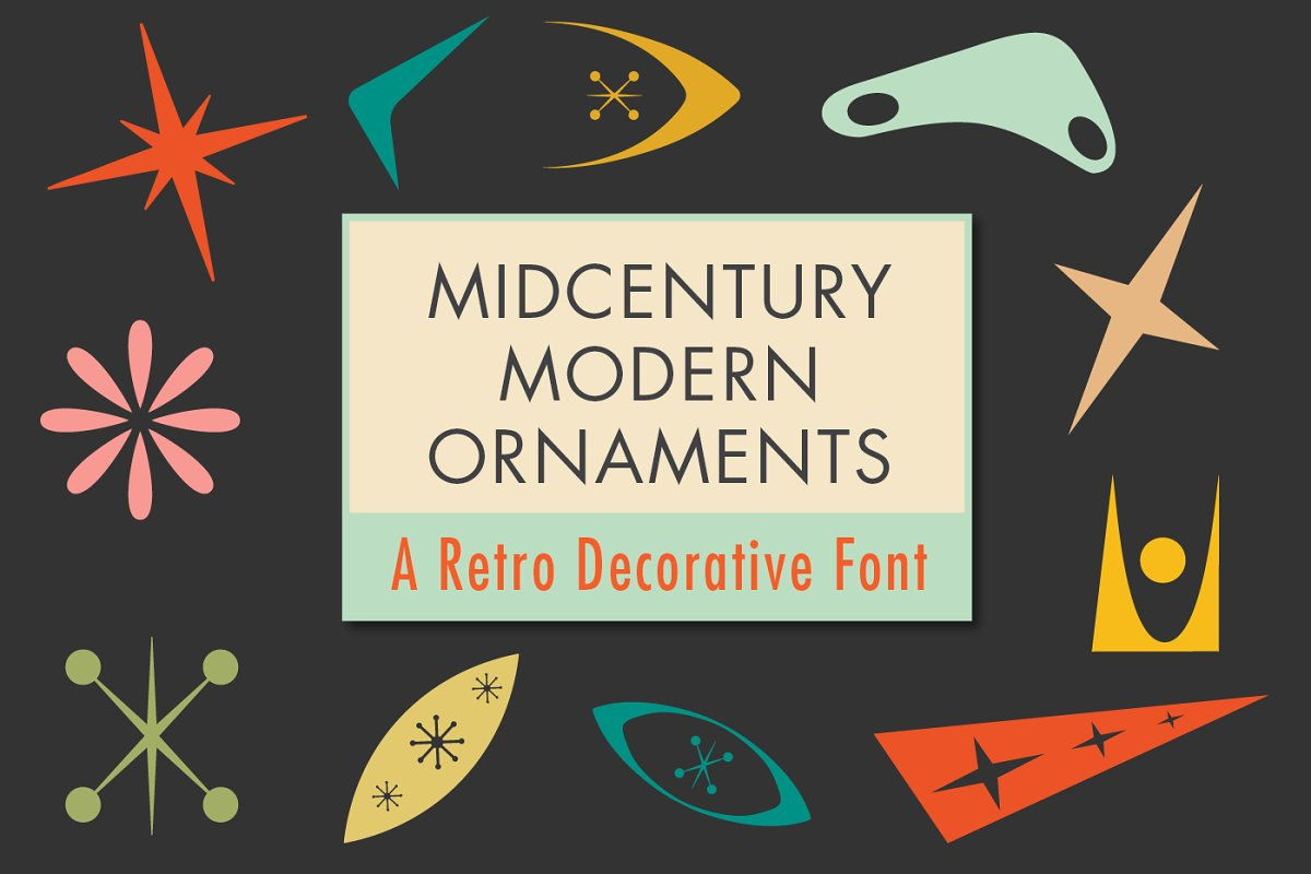 Mid-Century Modern Ornaments