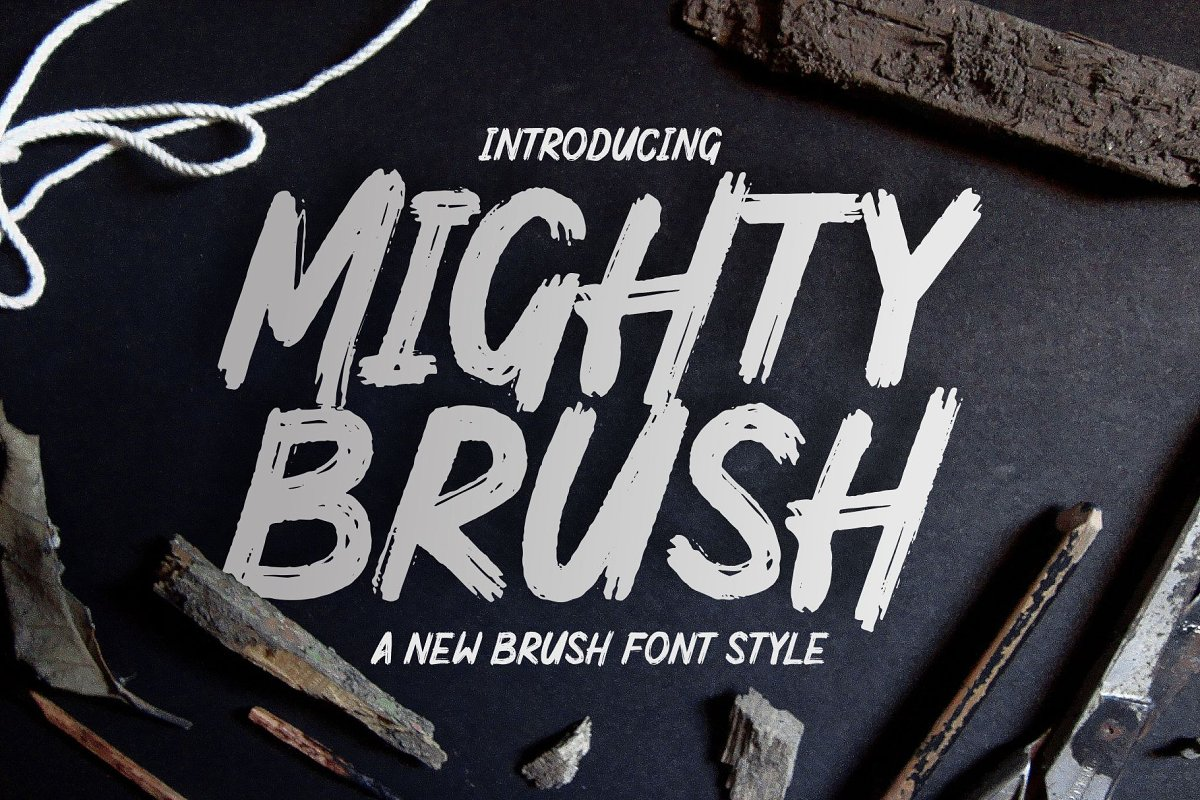 MIGHTY BRUSH Fonts - iFonts xyz