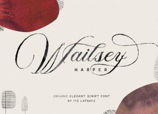 Miss Wailsey Organic Calligraphy Font