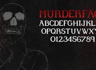 Murder Face Font