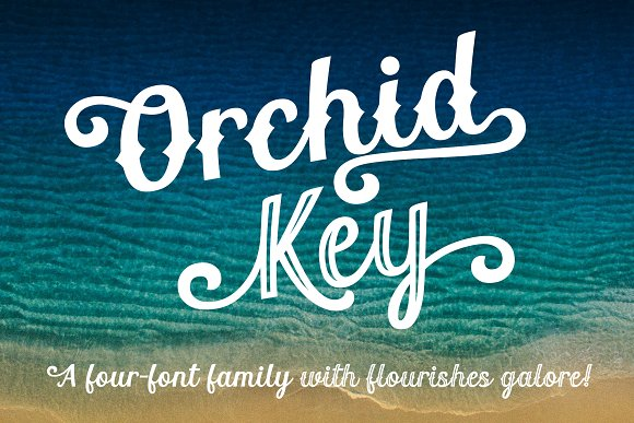 Orchid Key- a retro 4-font family