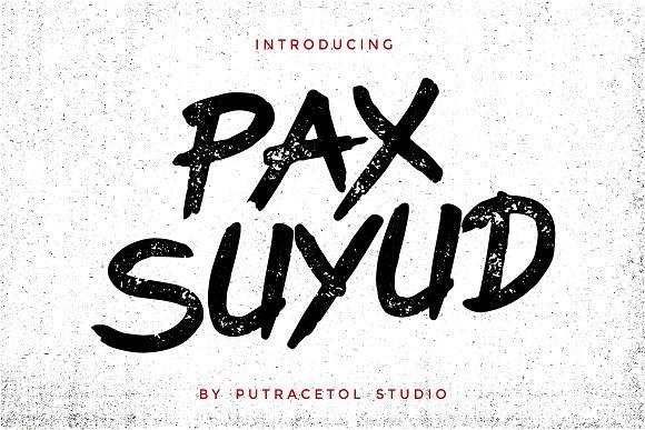 Pax Suyud - Brush + Rough Font