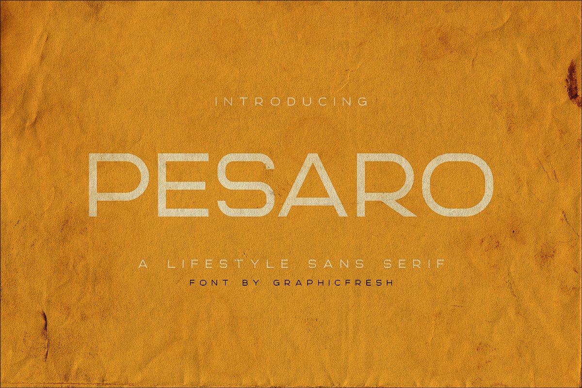 Pesaro | A Lifestyle Sans Serif