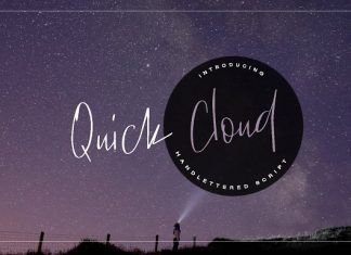 Quick Cloud Font