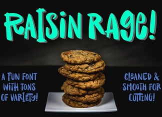 Raisin Rage: a fun & casual font