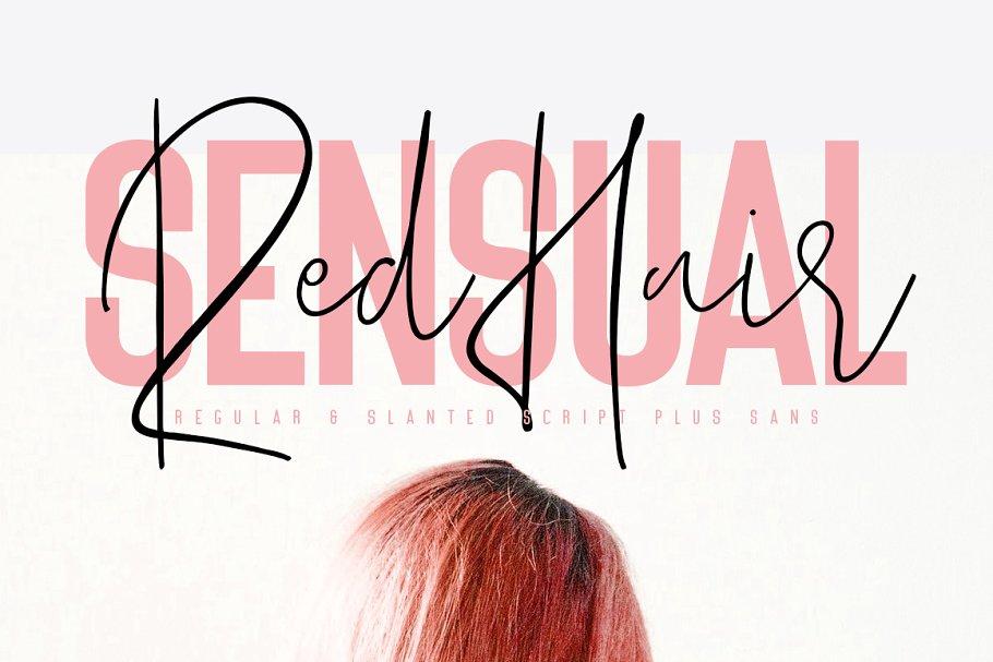 Red Hair Sensual Typeface