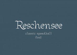 Reschensee fontRegular Font