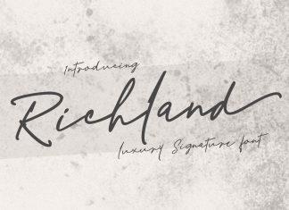 Richland | signature font Script Font