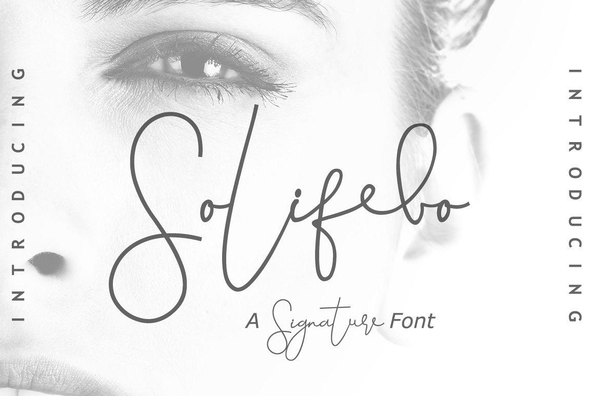 Solifebo Font Script Font