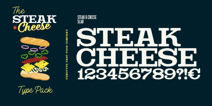 Steak And Cheese Font Family - iFonts xyz