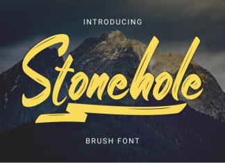Stonehole // Brush Font