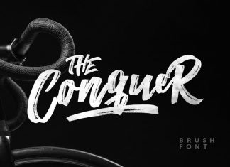 The Conquer Brush Typeface Font