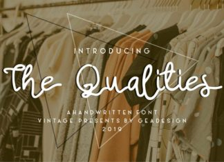 The Qualities Font