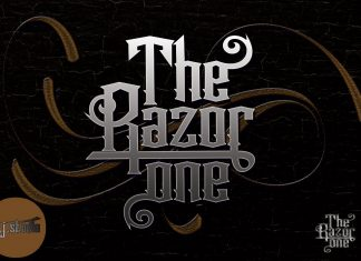 The Razor one Other Font