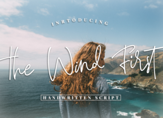 The Wind First font