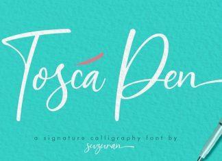 Toscal Pen Font