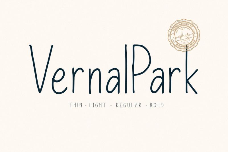 Vernal Park Font Family