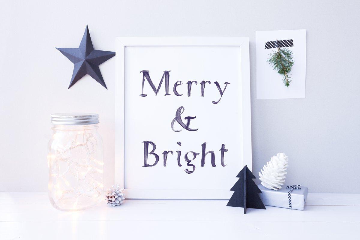 White Christmas SVG Font